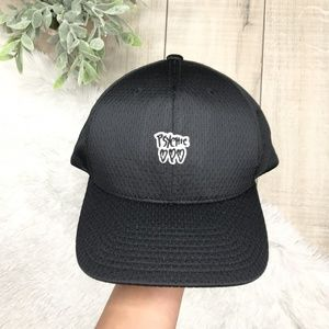 "Urban Outfitters ""Psychic"" Black Baseball Cap"
